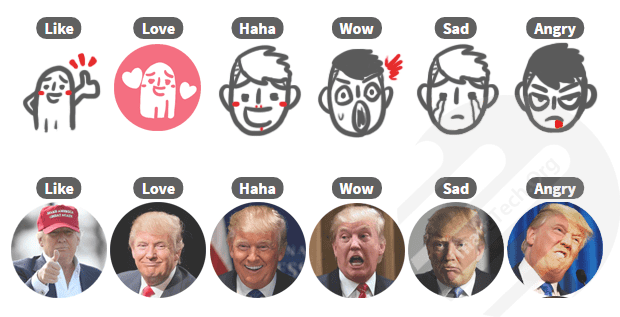 How to Customize Facebook Reactions?