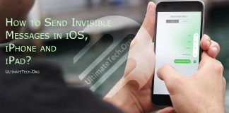 How to Send Invisible Messages in iOS, iPhone and iPad?