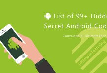 List of 99+ Hidden Secret Android Codes (MDCs)