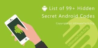 List of 99+ Hidden Secret Android Codes (MDCs)