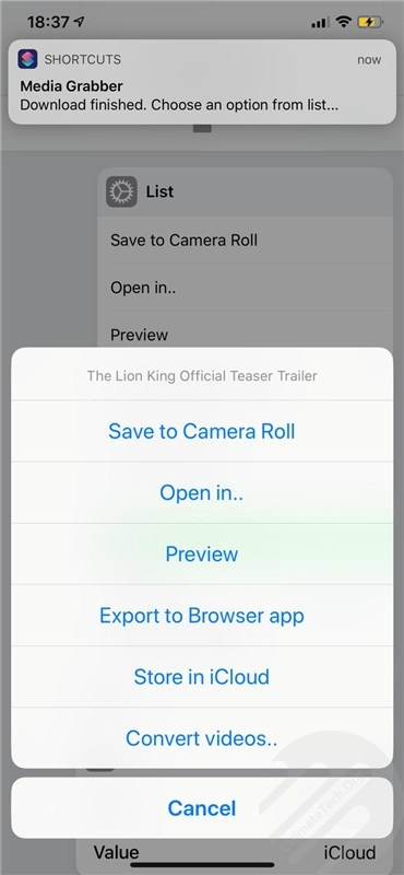 Directly Save Videos in iPhone's Photo app