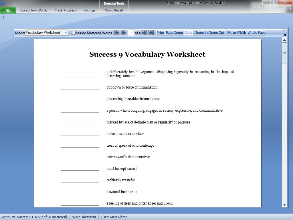 Ultimate Vocabulary Vocabulary Building Software