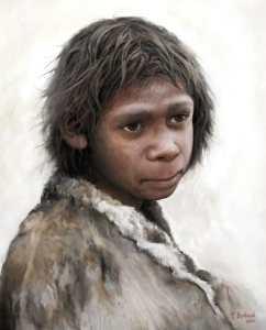 Cambiamento climatico e Neanderthal: ricostruzione del volto di un bambino
