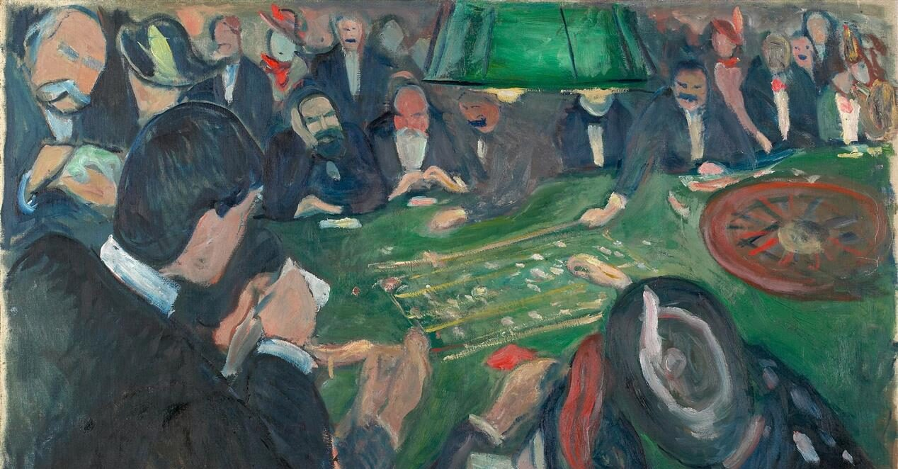 Il giocatore ritratto da Dostoevskij richiama da vicino i personaggi ritratti nel famoso dipinto di Munch.