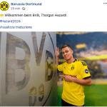 thorgan Hazard al Borussia