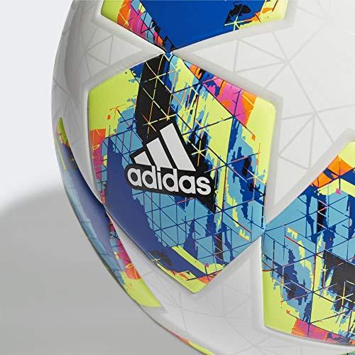 Adidas Finale TT J290 Pallone da Calcio Ragazzo TopWhiteBright Cyan YellowShock Pink BottomCollegiate RoyalBlackSolar Orange 5