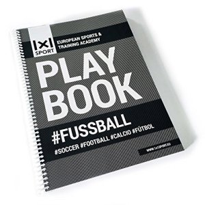 1x1Sport Play Book per calcio quaderno per schemi e tattiche per allenatori Playbook A4