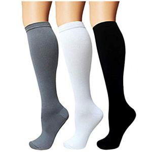 3 coppie Calze a compressione per uomo e donna calze a compressione graduata 1520 mmHg per crossfit maternit atletica da viaggio infermieri  aumenta la resistenza pratica e recupero