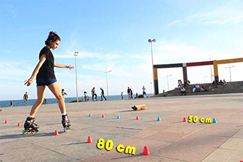 50 Pezzi Slalom Coni di Allenamento per Pattini a Rotelle Roller Skating Slalom Colored Sportive roller Skating pile Ostacolo SportConi di Marcatori Perfetto Calcio Multicolore Il Giro