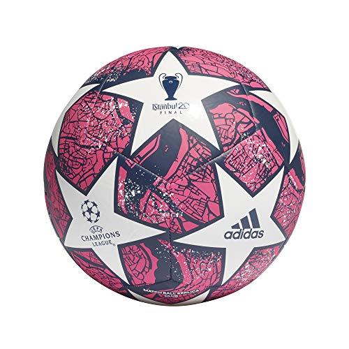 Adidas Fin Ist CLB Palla da Calcio Unisex Adulto WhitePantonDKBLUE 5