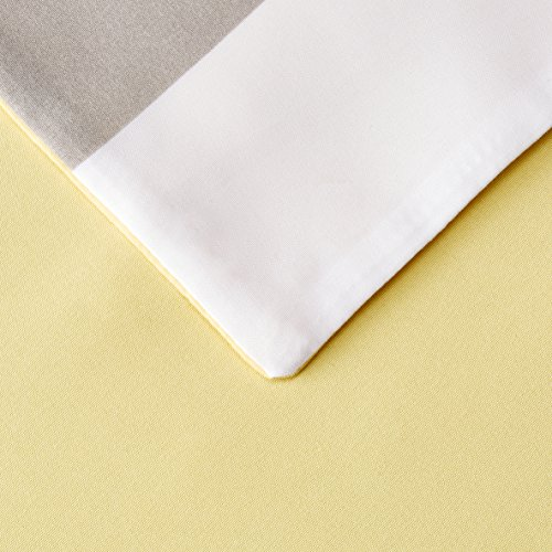 AmazonBasics  Set copripiumino in microfibra  135 x 200 cm Grigio a strisce reversibile Reversible Grey Stripe