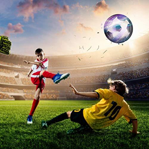 amzdeal Air Football Kit 1 x Hover Ball  1 Mini Soccer 2 Goal di Calcio 1 Gas NeedleHover Ball Gioco Indoor  Outdoor 1 Goal