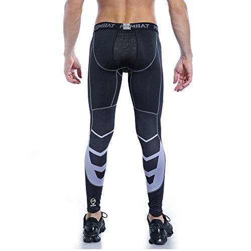 AMZSPORT Uomo da Compressione Calzamaglia Baselayer Leggings Sportivi Termici Pantaloni per Tutta la Stagione S