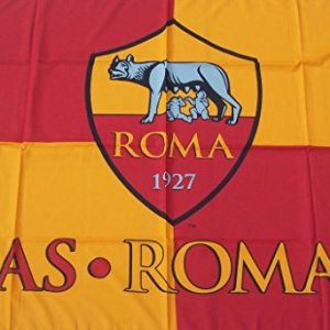 AS Roma Bandiera Ufficiale Magica Grande cm100x140 Flag Official
