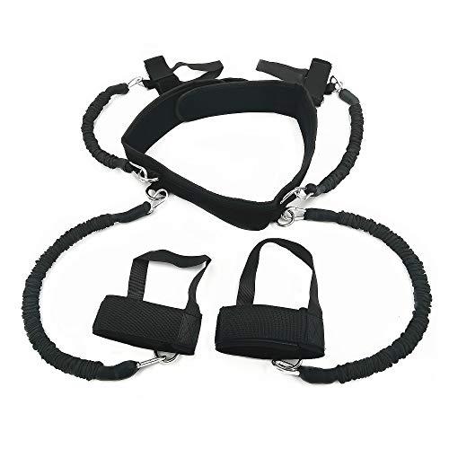 AUTUWT Corpo Resistance Band Set 150lbs Enhance Potere Esplosivo per lallenamento della Forza per MMA Boxing Muay Thai Karate Combat Fitness Basket Pallavolo Calcio Uomo e Donna