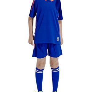 besbomig Maglia da Calcio Bambino Ragazzi Basketball Jersey Set Divise Sportive Calcio Maglia TShirt Pantaloncini Calze