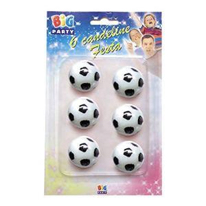 Big Party Candeline a Forma di Pallone da Calcio Colore Bianco e Nero CC43001