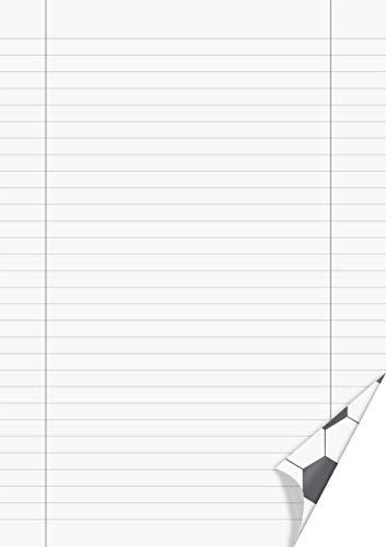 BrunnenBlocco 1052727381la scuolaLineeQuadernoblocco calcio A4 50fogli a righe con margine rigatura 27 70gm