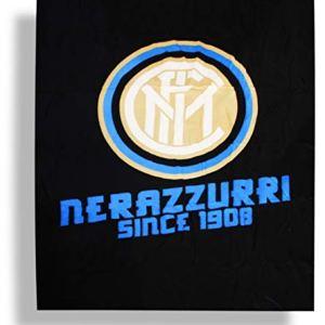 CALDO PLAID ARREDO MICRO PILE PELUCHES Juventus Inter Milan Roma COPERTA ORIGINALE cm 120 x 150 Inter