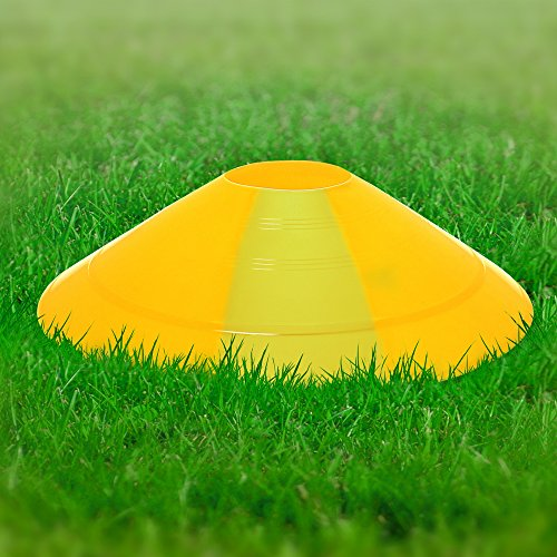 CampTeck U6859 Confezione da 50 Pezzi Coni Allenamento Coni Sport Plastica Mini Cono Segnalatore Spaziale Calcio Agilit Sport Bambini Circuiti ECC  con Maniglia da Trasporto