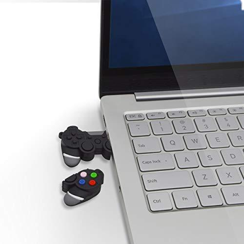 Chiavetta USB 30 16 GB Creativo PenDrive  Divertente Controller PS4 Pen Drive Unico Forma di Joypad Pennetta USB 16 Giga  FEBNISCTE Nero Simpatiche Penna USB 16GB Chiave USB Regalo di Compleanno