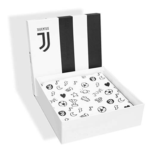 Completo Lenzuola Letto Baby Culla Lettino con sbarre 100 Cotone Ufficiale Juventus FC Nuovo Logo JJ