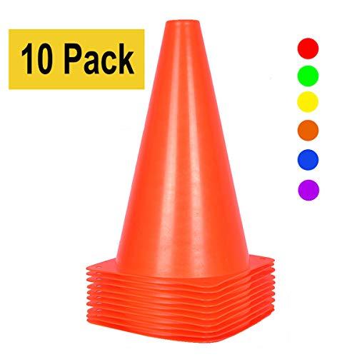 Confezione da 10 pigne da allenamento coni da traffico da 23 cm per attivit allaperto e eventi festivi  5 colori Arancione