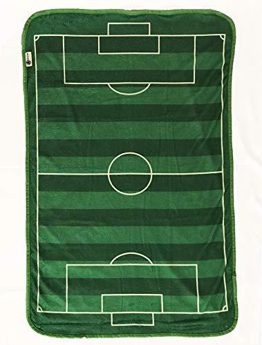 Coperta in pile super morbida progettata come un campo da calcio per un piccolo tifoso di calcio dimensioni 70 x 100 cm