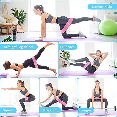 Cshidworld  Fasce elastiche per esercizi di resistenza antiscivolo con 3 passanti di resistenza per gambe e calcio