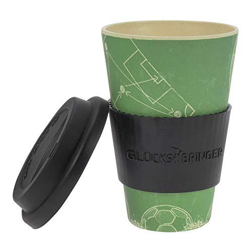 ebos Fortuna caffaGo Tazze di bamb  Tazze di caff Tazze di Bevanda  degradabili nellambiente riciclabile Ecologico  Cibo Sicuro Lavabile in lavastoviglie Teamplayer