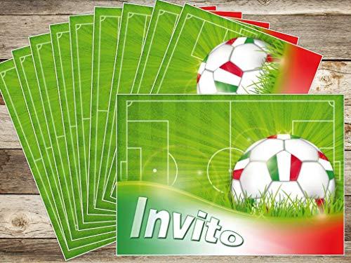 Edition Colibri 10 inviti per Festa di Compleanno Motivo Gioco del Calcio  inviti di Compleanno per Bambini  in Italiano 10960 IT