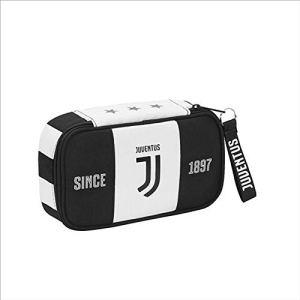 FC Juventus Astuccio Scuola Seven Quick Case Juventus Completo di Cancelleria 1 Zip 22x12x6 cm Prodotto Ufficiale