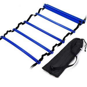 FJYOURIA Scala per Allenamento Calcio 6m Scala di agilit Scaletta Training Agility Footwork Scaletta Speed Training Set con Borsa per Il Trasporto Blu