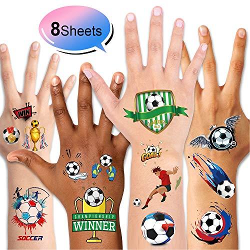 HOWAF 31 Pezzi Calcio Festa Compleanno Regalo Bambini Calcio Portachiavi Calcio fischietti Penne a Inchiostro Gel Calcio Tatuaggi per Ragazzi Bambini Festa Compleanno Gadget Bomboniere Giocattoli