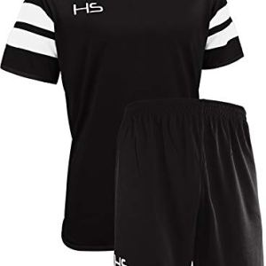 HS S17 Kit Calcio Unisex  Adulto NeroBianco M