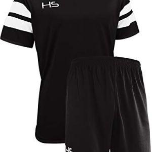 HS S17 Kit Calcio Unisex  Adulto NeroBianco M