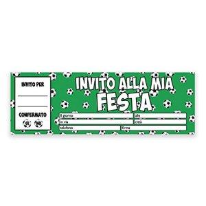 Inviti Festa Compleanno Calcio Football  Blocchetto da 20 pz