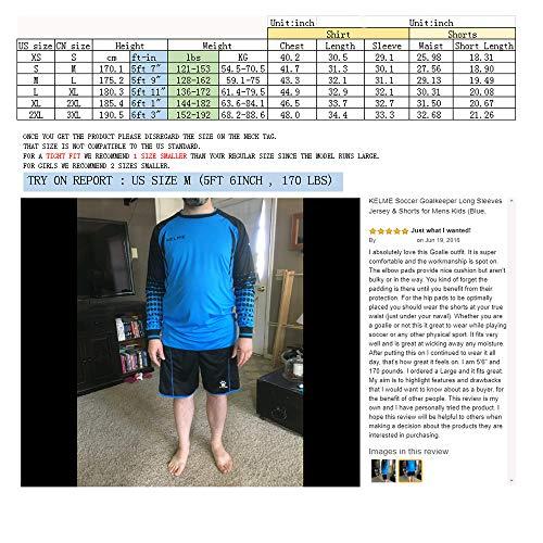 Kelme completino da portiere di calcio a maniche lunghe Uomo GreenBlack XXL