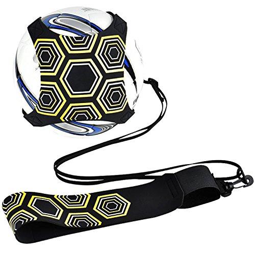 Kit di allenamento Calcio Trainer Attrezzatura da allenamento a calcio Pratica a mani libere da solo con cinturino corda elastica universale adatta per  3  4  5 palloni da calcio per bambini