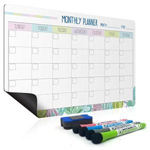 Lavagna mensile e settimanale  Weekly planner settimanale e mensile da appendere e lavagna calendario  Lavagnetta magnetica frigorifero