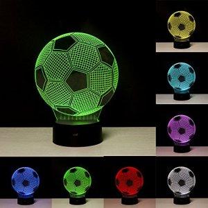 Linkax Luce notturna 3D Illusione Ottica Led Lampada di Illuminazione Luce decorazioni Luci notturne Per comodino Bambini cameretta 7 telecomando a colori con Base  Caricatore USB