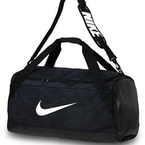 Nike Brasilia 6 Medium Duffel Borsone da calcio Nero BlackWhite 61 x 30 x 31 cm