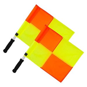 OPTIMUM Linesman Flag Bandierine Guardalinee UnisexAdult MulticoloreGialloArancione One Size
