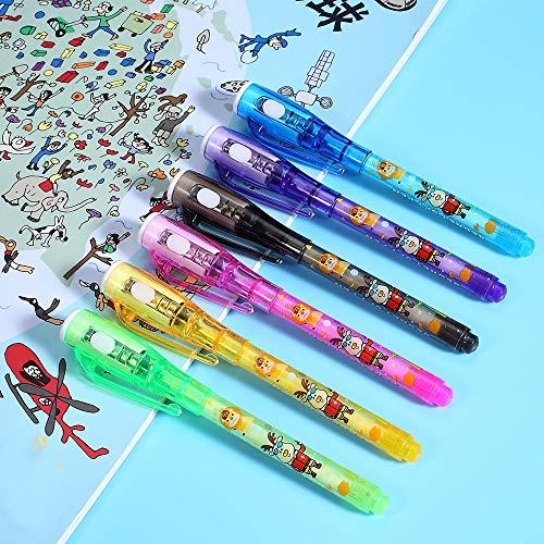 Penne a inchiostro invisibili penna spia da 12 pezzi con a raggi UV per messaggio segreto riempitivi per sacchetti a mano per feste di compleanno per bambini e regali di Natale
