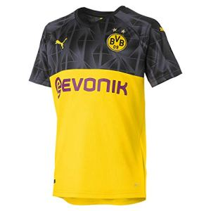 PUMA BVB Cup Shirt Replica Jr with Evonik Without Opel Logo Maglia Calcio Bambino Cyber YellowBlackEbony 176