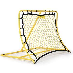 Rete per rimbalzo calcio regolabile PodiuMax  Allenatore di Kickback di calcio portatile  Obiettivo di pratica obiettivo  per laddestramento il passaggio  120 x 84 cm