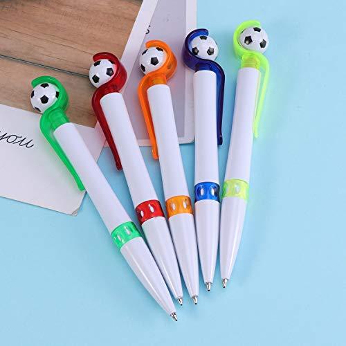 STOBOK Soccer Shape Penna a sfera Penna a sfera creativa Cancelleria per Home School Office 5pcs colore casuale