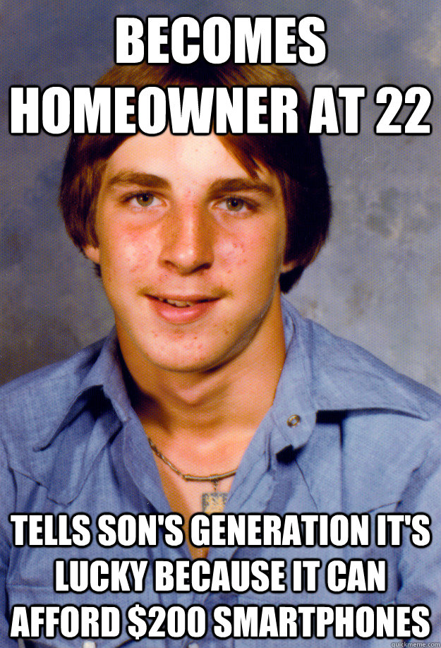The Old Economy Steve meme took off after the financial crisis, speaking to this divide between generations