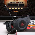 Casque Gaming PS4, NUBWO N2 Casque Gaming Stéréo Filaire PC avec Micro à Réduction du Bruit, Casque Over-Ear pour PC, MAC, PlayStation 4, Xbox One, Android et iPhone-Noir