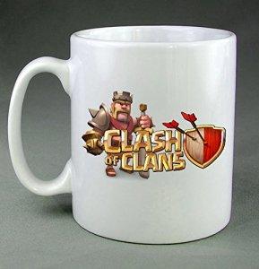 Clash de Clans Logo jeu vidéo WN07 Tasse à café